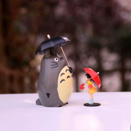 Japan Miyazaki Umbrella Totoro Doll Garage Kit Car Decoration Three Piece Desktop Car Interior Decoration Gift 1