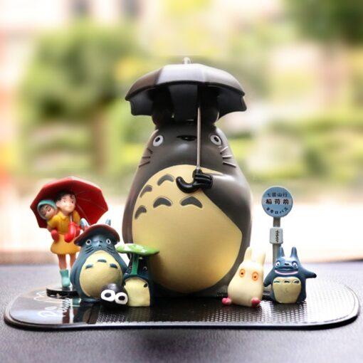 Japan Miyazaki Umbrella Totoro Doll Garage Kit Car Decoration Three Piece Desktop Car Interior Decoration Gift