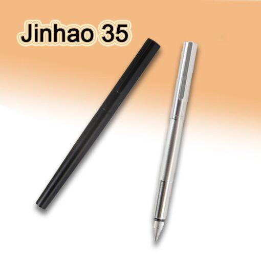 Jinhao 35 Metal Fountain Pen Extra Fine Nib 0 38mm Office Converter Writing Gift 2
