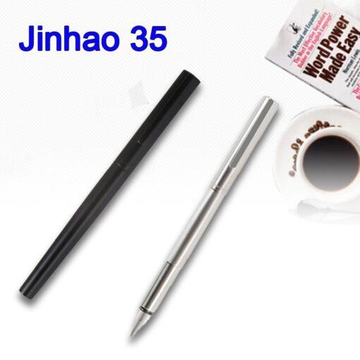Jinhao 35 Metal Fountain Pen Extra Fine Nib 0 38mm Office Converter Writing Gift 4