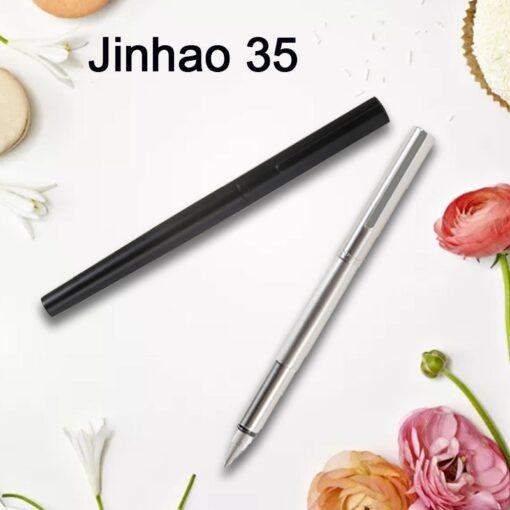 Jinhao 35 Metal Fountain Pen Extra Fine Nib 0 38mm Office Converter Writing Gift