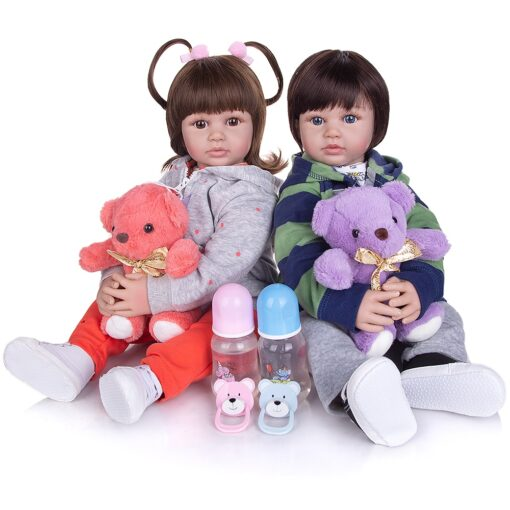 KEIUMI 60 CM Lifelike Reborn Babies Dolls Cloth Body Collectable Princess Newborn Toy Baby Dolls For 1