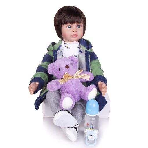 KEIUMI 60 CM Lifelike Reborn Babies Dolls Cloth Body Collectable Princess Newborn Toy Baby Dolls For 4
