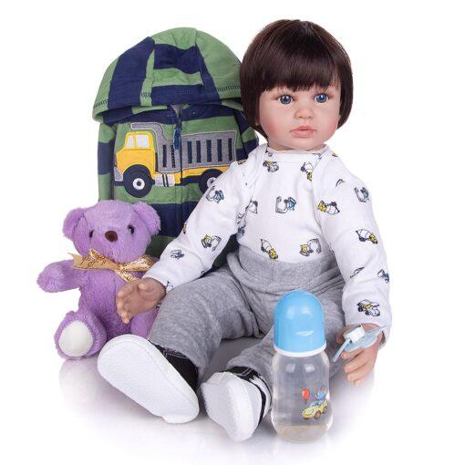 KEIUMI 60 CM Lifelike Reborn Babies Dolls Cloth Body Collectable Princess Newborn Toy Baby Dolls For 5