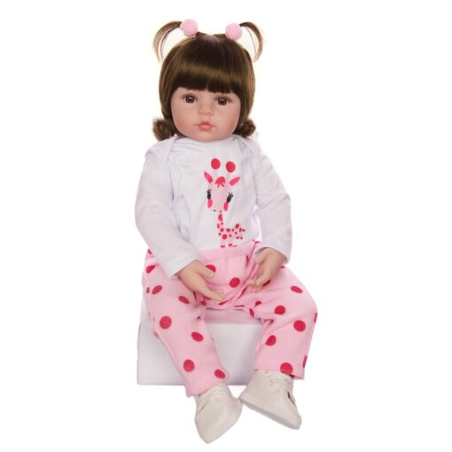 KEIUMI Hot Sale Reborn Baby Doll Toy Cloth Body Stuffed Realistic Baby Doll With Giraffe Toddler 3