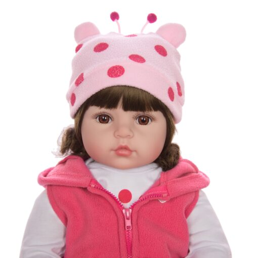 KEIUMI Hot Sale Reborn Baby Doll Toy Cloth Body Stuffed Realistic Baby Doll With Giraffe Toddler 5