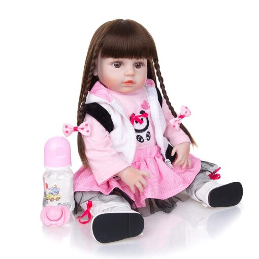 KEIUMI Newest 19 Inch Reborn Babies Doll Realistic Lovely Bebe Reborn Toodler Bath Toy For Kids 1