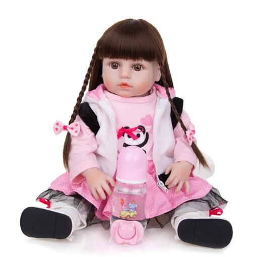 KEIUMI Newest 19 Inch Reborn Babies Doll Realistic Lovely Bebe Reborn Toodler Bath Toy For Kids 2