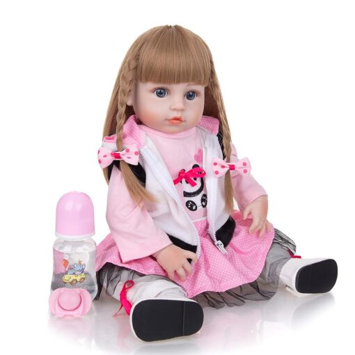 KEIUMI Newest 19 Inch Reborn Babies Doll Realistic Lovely Bebe Reborn Toodler Bath Toy For Kids 4