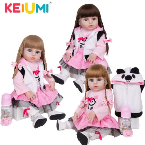 KEIUMI Newest 19 Inch Reborn Babies Doll Realistic Lovely Bebe Reborn Toodler Bath Toy For Kids