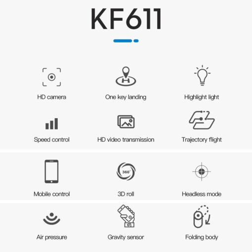 KF611 Mini Drone 4K HD Camera WIFI FPV Selfie Quadcopter Headless Mode Drone Toy With Track 5