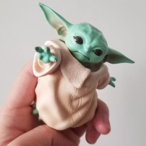 Kawaii Baby Yoda Action Figure Dolls Toy Collection The Mandalorian Cute Yoda Figure Dolls Toy Birthday 2