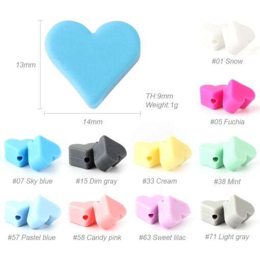 Keep Grow 10pcs Lovely star Silicone Beads BPA Free Baby Nursing Chewable Teething Beads Pacifier Teether 1