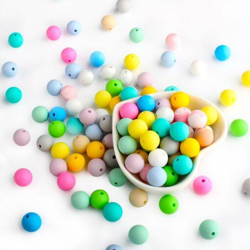 Keep Grow 25Pcs Silicone Beads 12mm Eco friendly Sensory Teething Necklace Food Grade Mom Nursing DIY 2