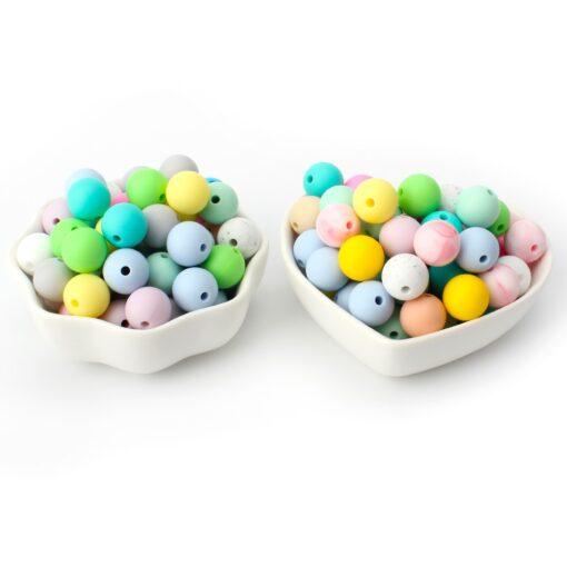 Keep Grow 25Pcs Silicone Beads 12mm Eco friendly Sensory Teething Necklace Food Grade Mom Nursing DIY 3