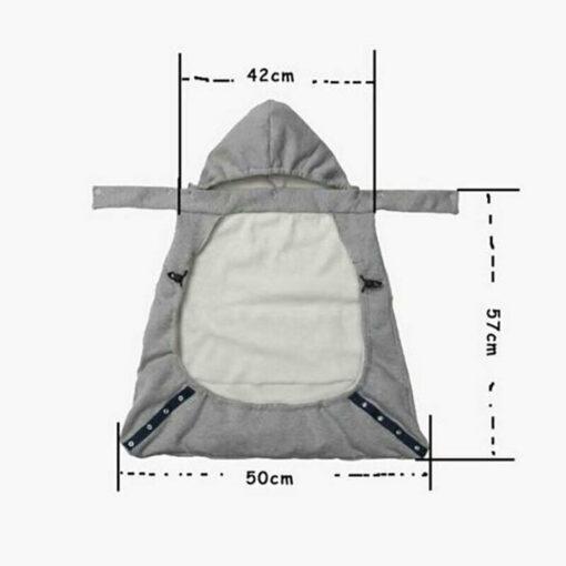 Kid Backpack Infant Baby Carrier Wrap Comfort Sling Winter Warm Cover Cloak Blanket Patchwork String Adjust 2