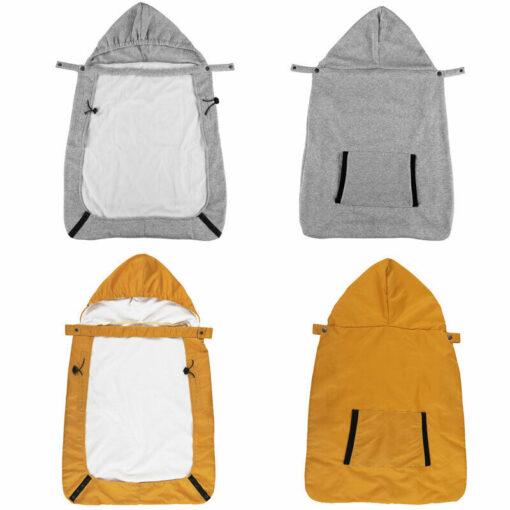 Kid Backpack Infant Baby Carrier Wrap Comfort Sling Winter Warm Cover Cloak Blanket Patchwork String Adjust 3
