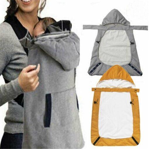 Kid Backpack Infant Baby Carrier Wrap Comfort Sling Winter Warm Cover Cloak Blanket Patchwork String Adjust