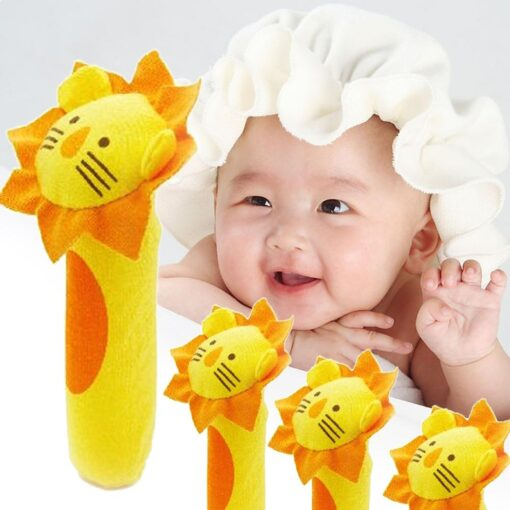Kids Baby Funny Toys Cartoon Animal Hand Bells Plush Baby Toy Dolls Toys for Children Newbrons 2