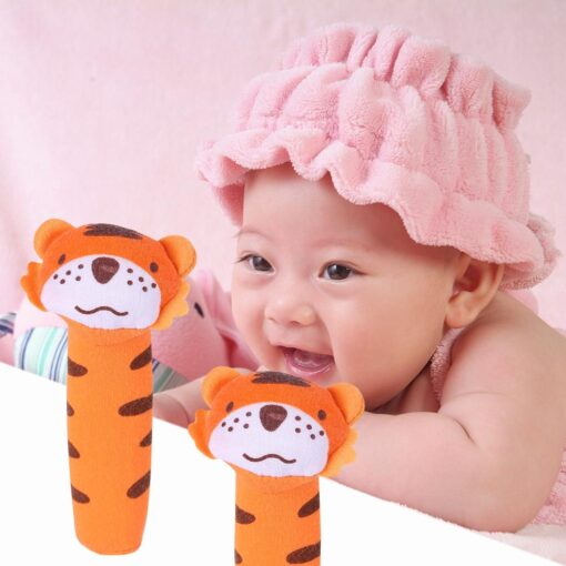 Kids Baby Funny Toys Cartoon Animal Hand Bells Plush Baby Toy Dolls Toys for Children Newbrons 3