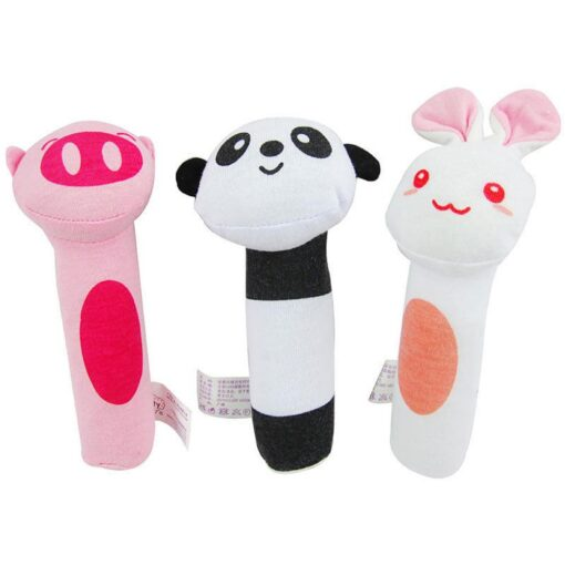 Kids Baby Funny Toys Cartoon Animal Hand Bells Plush Baby Toy Dolls Toys for Children Newbrons 5