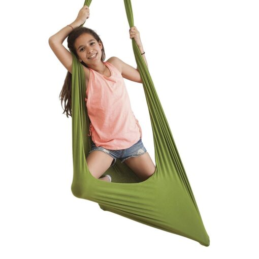 Kids Cotton Swing Hammock for Autism ADHD ADD Therapy Cuddle Up Sensory Child Therapy Elastic Parcel 1