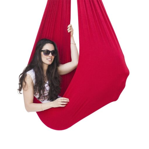 Kids Cotton Swing Hammock for Autism ADHD ADD Therapy Cuddle Up Sensory Child Therapy Elastic Parcel 4