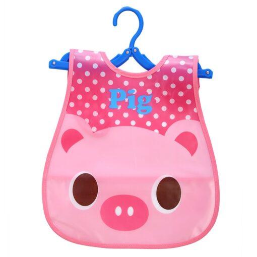 Kids Cute Bibs Infant Bibs Baby Soft Kawaii Cartoon Animal Bib Waterproof Saliva Dripping Bibs Silicone 2