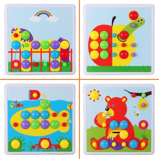 Kids Electric Drill Toys Creative Educational Toy Drill Screws Puzzle Assembled Mosaic Design Building Toys Boy 5
