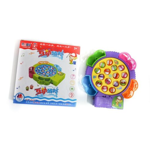 Kids Fishing Game Toy Electric Musical Rotating Catch LED Light Wooden Magnetic Educational Parent child interaction 4
