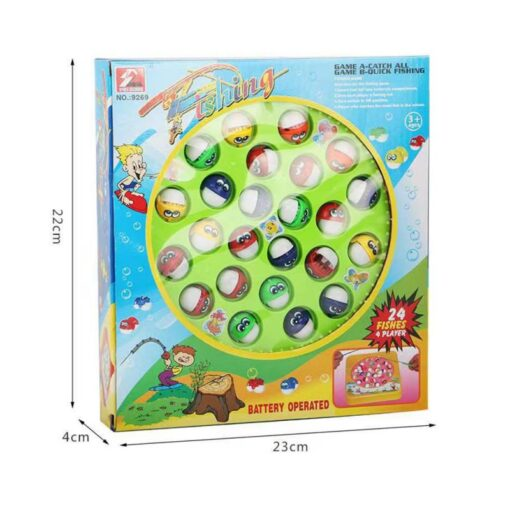 Kids Fishing Game Toy Electric Musical Rotating Catch LED Light Wooden Magnetic Educational Parent child interaction 5