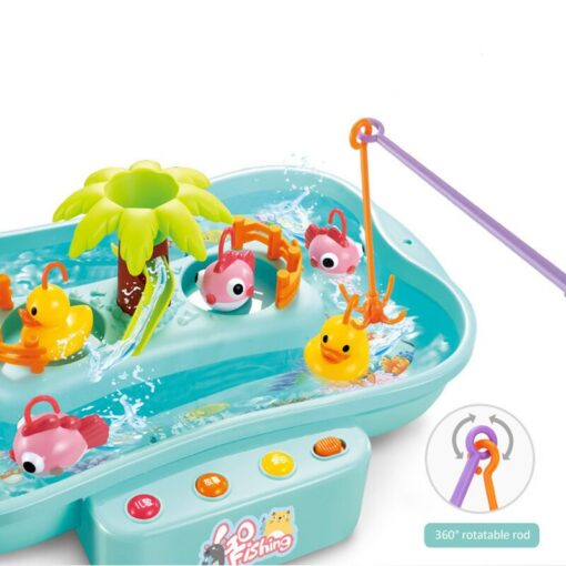 Kids Fishing Toy Child Play House Educational Toys Duck Fishing Games Electric Water Cycle Music Light 3