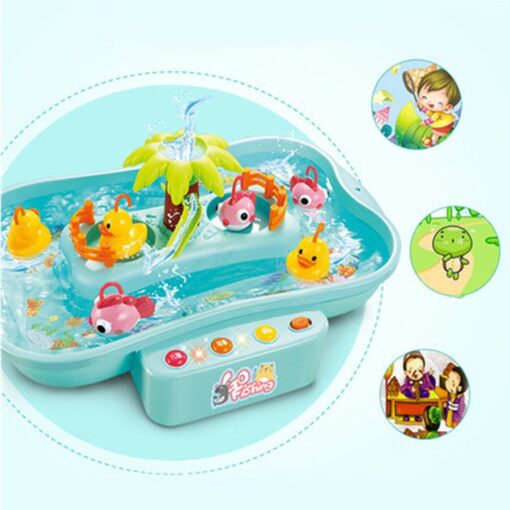 Kids Fishing Toy Child Play House Educational Toys Duck Fishing Games Electric Water Cycle Music Light 5
