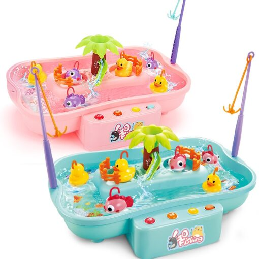 Kids Fishing Toy Child Play House Educational Toys Duck Fishing Games Electric Water Cycle Music Light