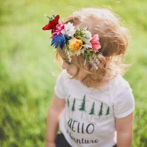 Kids Headgear Garland Seaside Holiday Simulation Wreath Flower Headband Headwear Baby Girl Dropshipping New 1