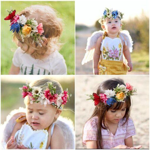 Kids Headgear Garland Seaside Holiday Simulation Wreath Flower Headband Headwear Baby Girl Dropshipping New 2