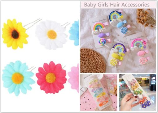 Kids Headwear Flower Princess Headwear Baby Headdress Girls Hair Accessories Sun Flower Hairpin Bride Bridal Hair