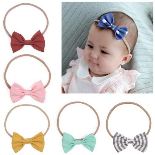 Kids Headwear Girl Baby Toddler Bow Headband Cute High Elasticity Hair Band Accessories Head Wrap Dropshipping 5