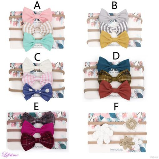 Kids Headwear Girl Baby Toddler Bow Headband Cute High Elasticity Hair Band Accessories Head Wrap Dropshipping