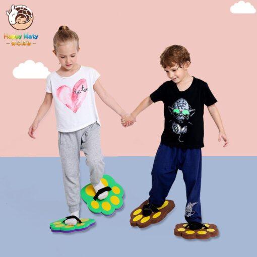 Kids Jumping Stilts Outdoor Balance Training Toy Balance Shoes Synchronous Shoes EVA Foam Bear s Paw