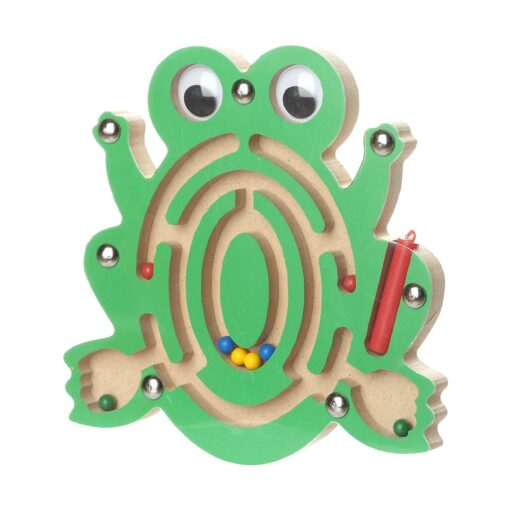 Kids Magnetic Maze Toys Kids Wooden Game Toy Wooden Intellectual Jigsaw Board Labyrinth Board For Kids 1