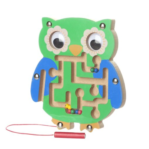 Kids Magnetic Maze Toys Kids Wooden Game Toy Wooden Intellectual Jigsaw Board Labyrinth Board For Kids 2