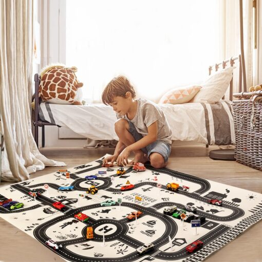 Kids Play Mat City Road Buildings Parking Map Game Scene Map Educational Toys Toys For Children
