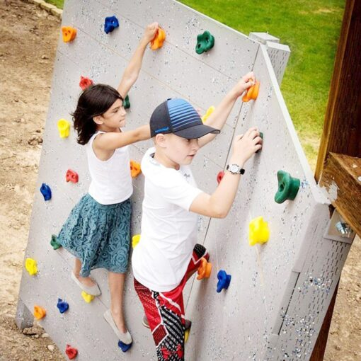 Kids Rock Climbing Toys for Children Wood Wall Stones Plastic Indoor Outdoor Climbing Rock Physical Training 1