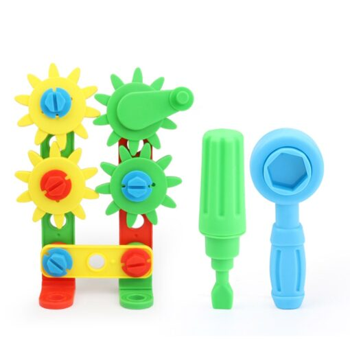 Kids Toys 37pcs Plastic Assembled Screws Nut Toys Screwing Blocks Game Hand eye Coordination Kids Early 1