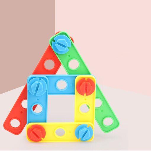 Kids Toys 37pcs Plastic Assembled Screws Nut Toys Screwing Blocks Game Hand eye Coordination Kids Early 3