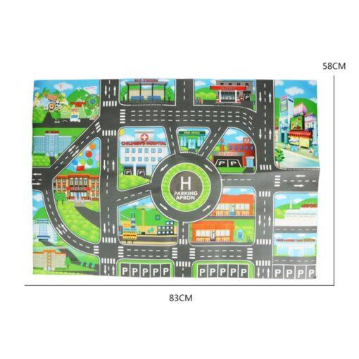 Kids Toys City Parking Lot Roadmap DIY Traffic Road Signs Diecast Alloy Toy Model Car Climbing 5