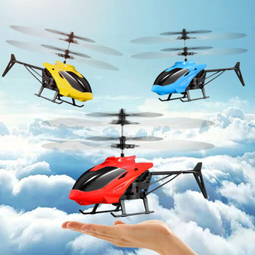 Kids Toys Mini Drone RC Flying Helicopter Aircraft with Remote Control Suspension Induction LED Light Toys