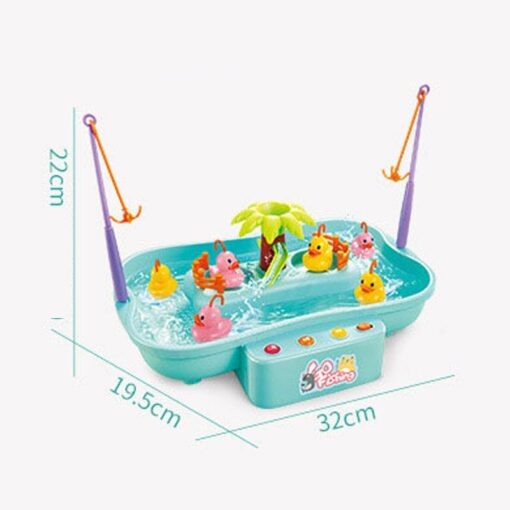 Kids Water Cycle Electric Fishing Toys Music Light Toys for Children Fishing Games Water Play Outdoor 5