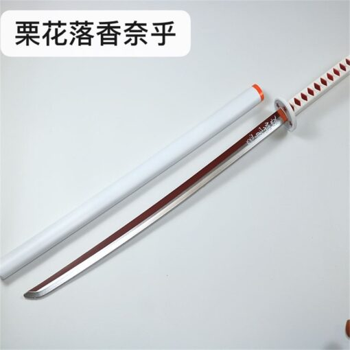 Kimetsu no Yaiba Sword Weapon Demon Slayer Agatsuma Zenitsu Cosplay Sword 1 1 Anime Ninja Knife 3